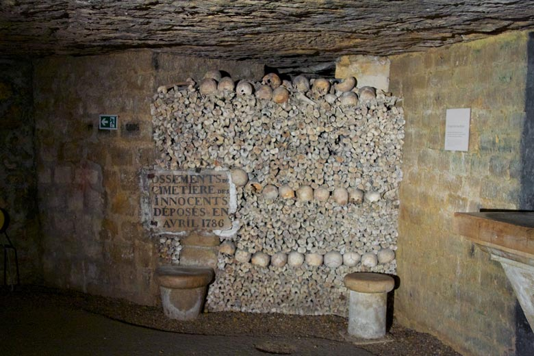 Paris catacombs, France, by Julian Fong