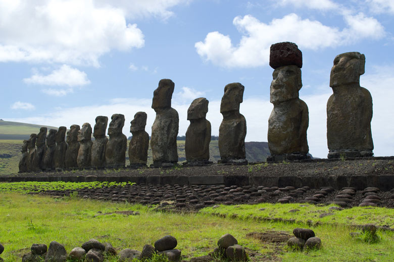 Moai statues, Easter Island, by Tristan Smith