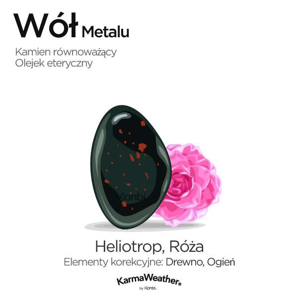 Wół Metalu: kamień równoważący i olejek eteryczny