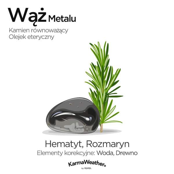 Wąż Metalu: kamień równoważący i olejek eteryczny