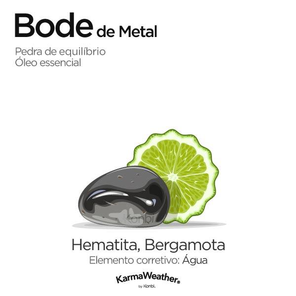 Bode de Metal: pedra de equilíbrio e óleo essencial