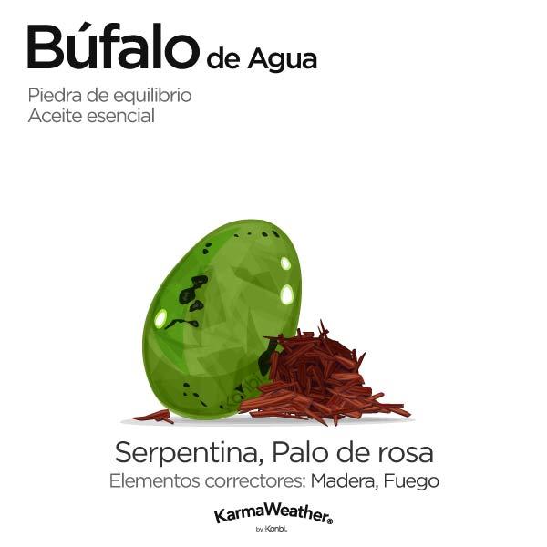 Búfalo de Agua: piedra de equilibrio y aceite esencial