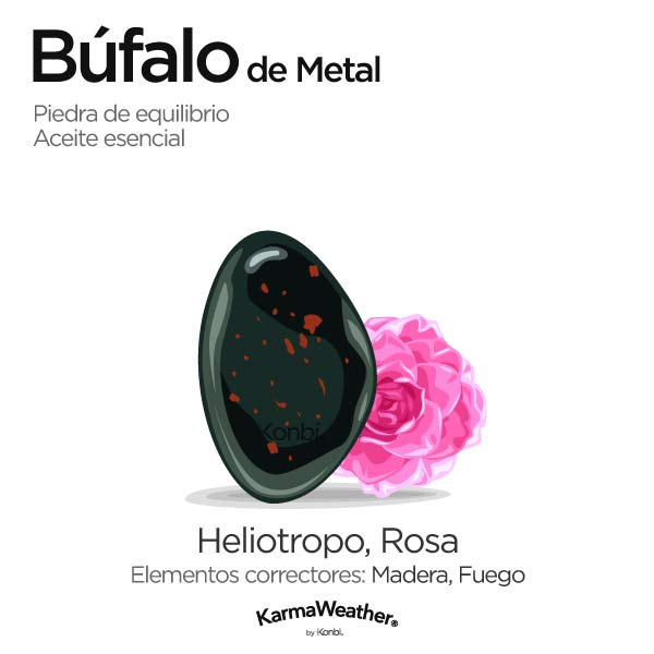 Búfalo de Metal: piedra de equilibrio y aceite esencial