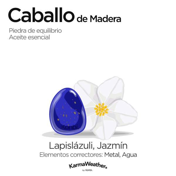 Caballo de Madera: piedra de equilibrio y aceite esencial