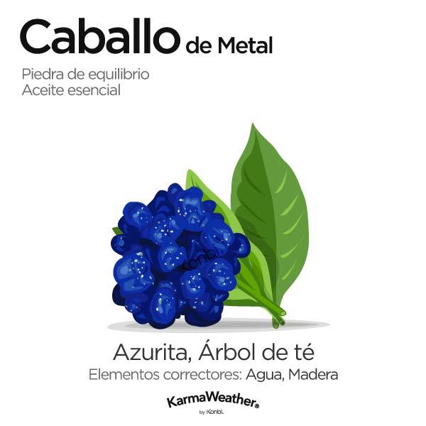 Caballo de Metal: piedra de equilibrio y aceite esencial