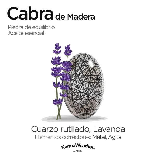 Cabra de Madera: piedra de equilibrio y aceite esencial