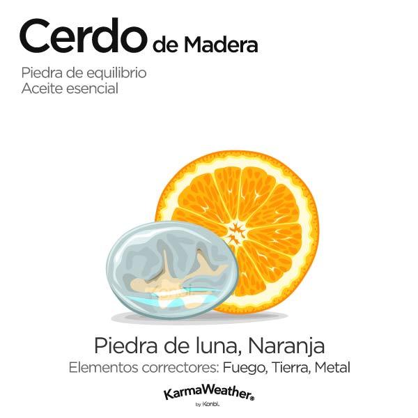 Cerdo de Madera: piedra de equilibrio y aceite esencial