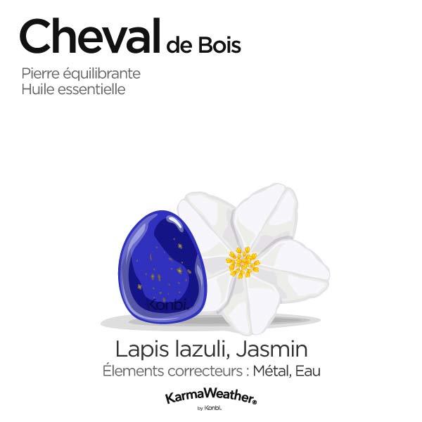 Cheval de Bois: pierre équilibrante et huile essentielle