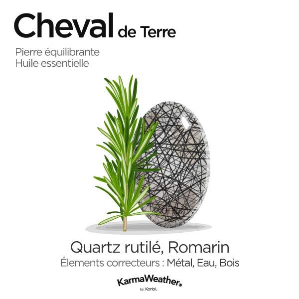 Cheval de Terre: pierre équilibrante et huile essentielle