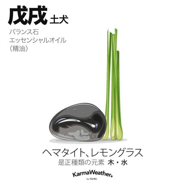 土犬(戊戌):バランス石、エッセンシャルオイル