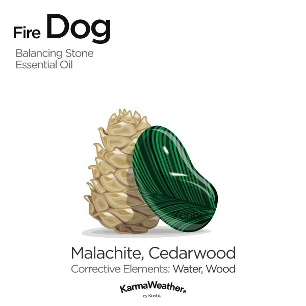 Fire Dog's balancing stone and essential oil