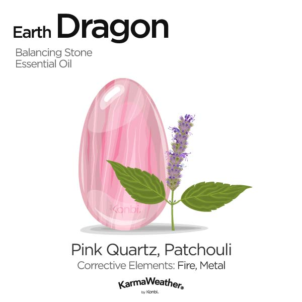 Year of the Earth Dragon's balancing stone and essential oil