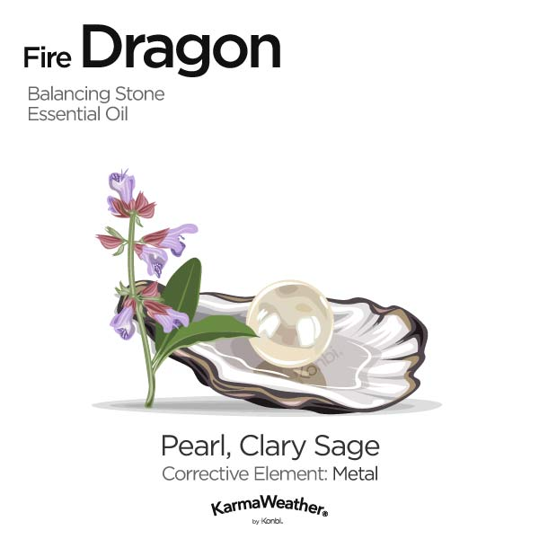 Year of the Fire Dragon's balancing stone and essential oil