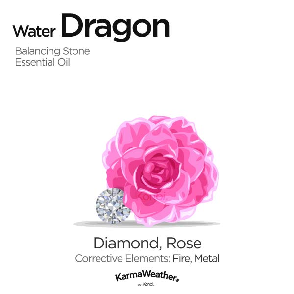 Year of the Water Dragon's balancing stone and essential oil