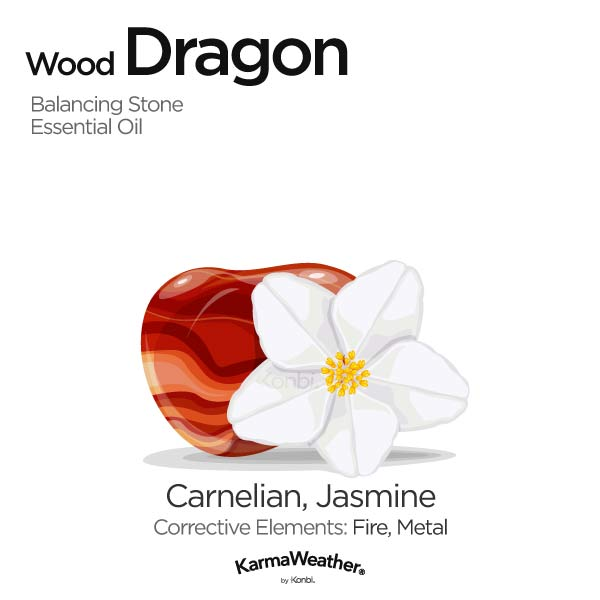 Year of the Wood Dragon's balancing stone and essential oil