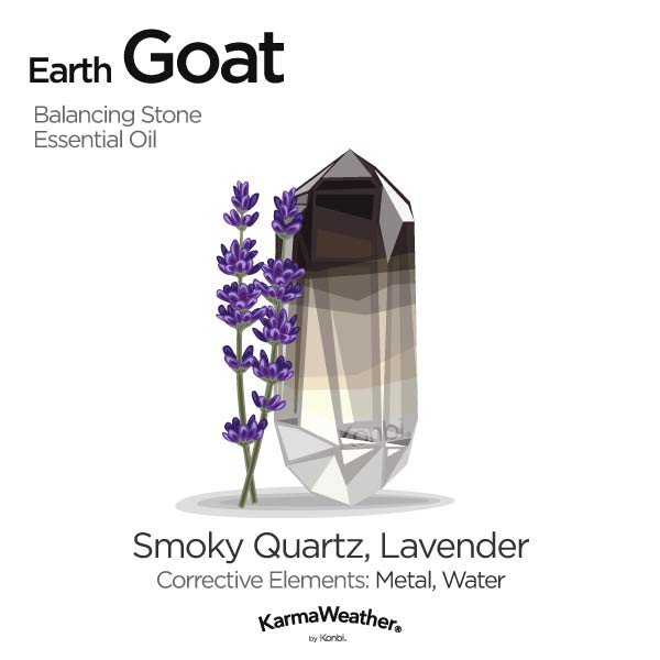 Earth Goat's balancing stone and essential oil