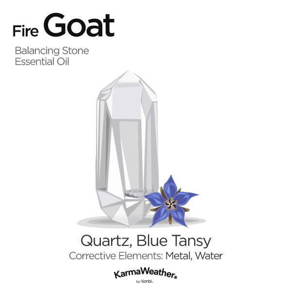Fire Goat's balancing stone and essential oil
