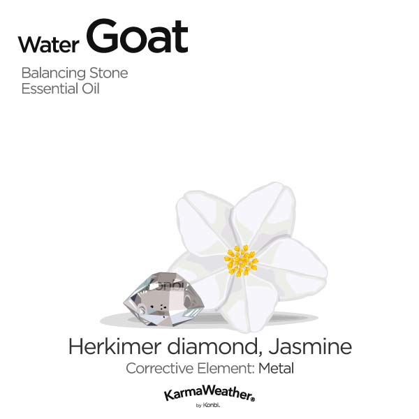 Water Goat's balancing stone and essential oil