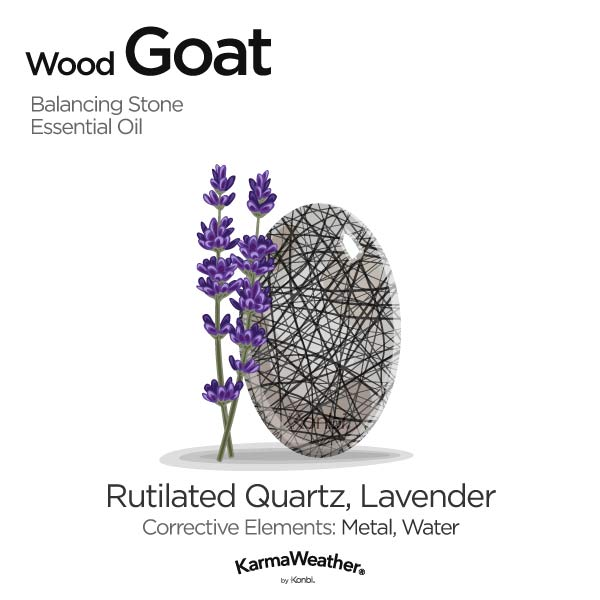 Wood Goat's balancing stone and essential oil