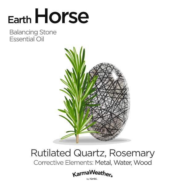 Year of the Earth Horse's balancing stone and essential oil