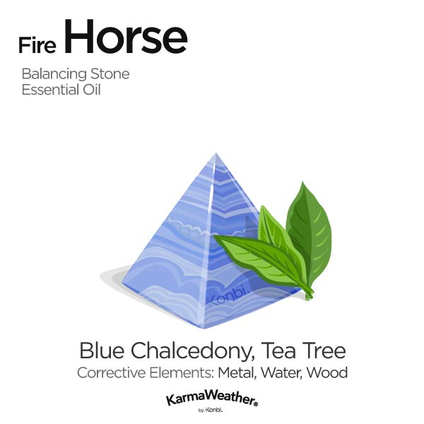 Year of the Fire Horse's balancing stone and essential oil