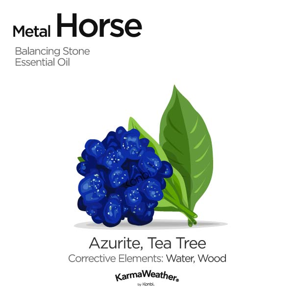 Year of the Metal Horse's balancing stone and essential oil