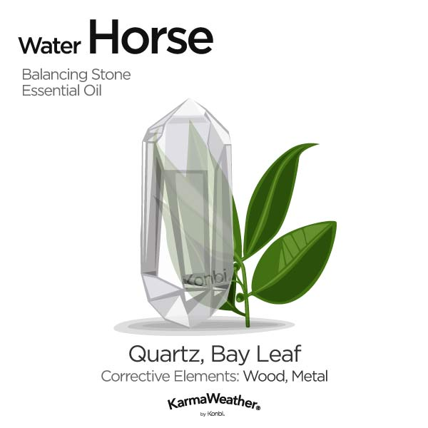 Year of the Water Horse's balancing stone and essential oil