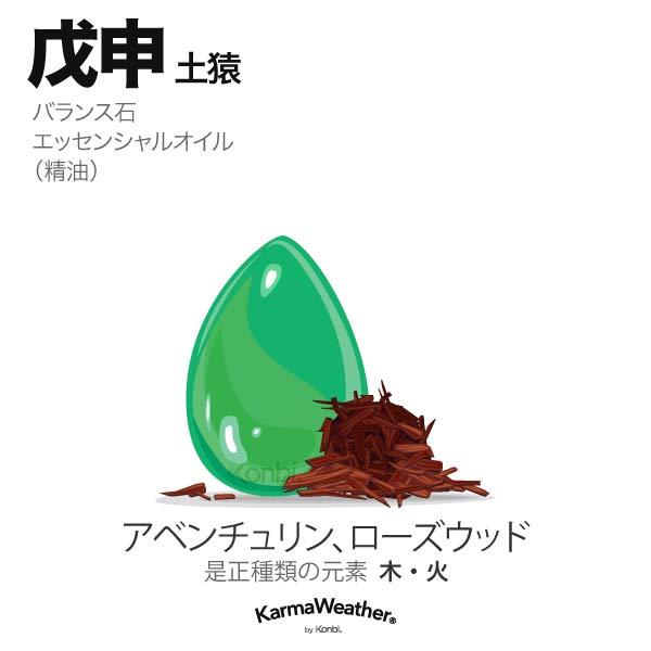 土猿(戊申):バランス石、エッセンシャルオイル