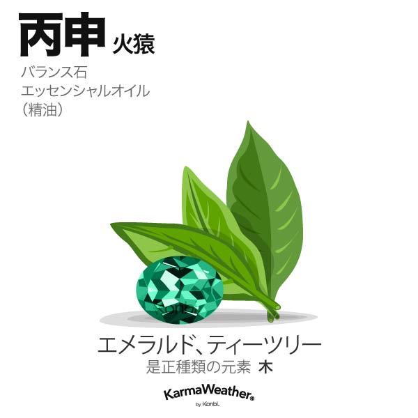 火猿(丙申):バランス石、エッセンシャルオイル