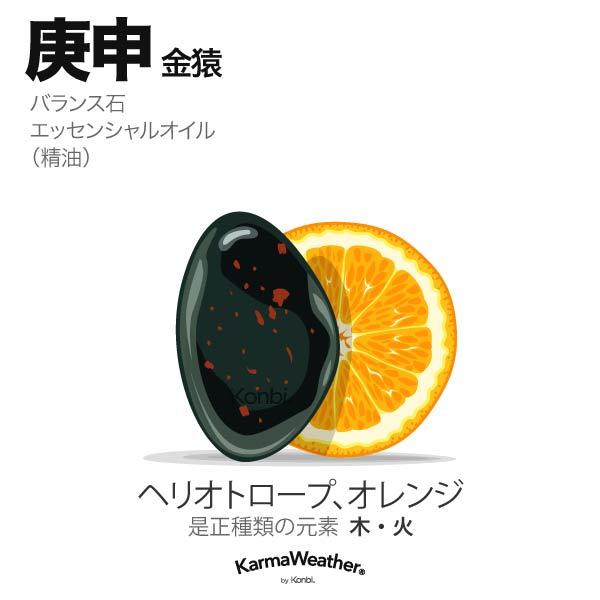金猿(庚申):バランス石、エッセンシャルオイル