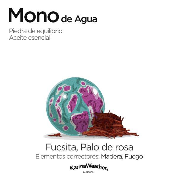 Mono de Agua: piedra de equilibrio y aceite esencial
