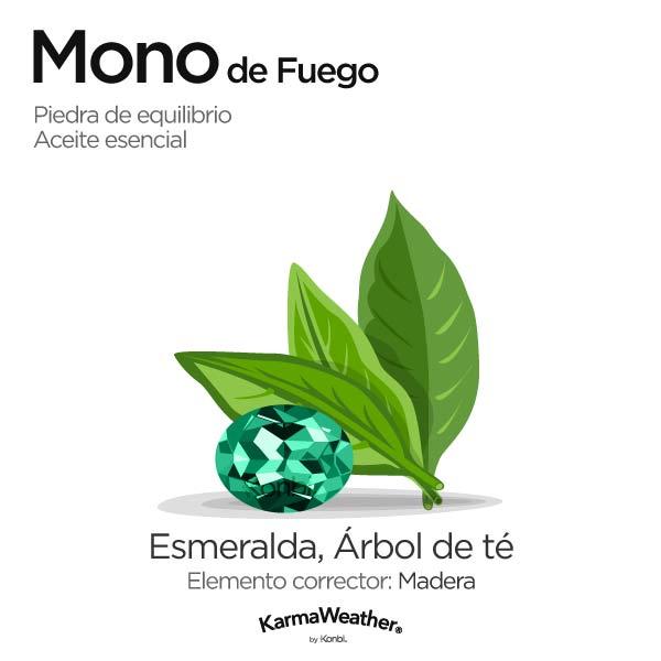 Mono de Fuego: piedra de equilibrio y aceite esencial