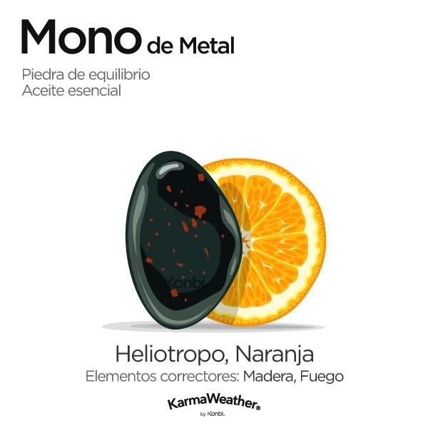 Mono de Metal: piedra de equilibrio y aceite esencial