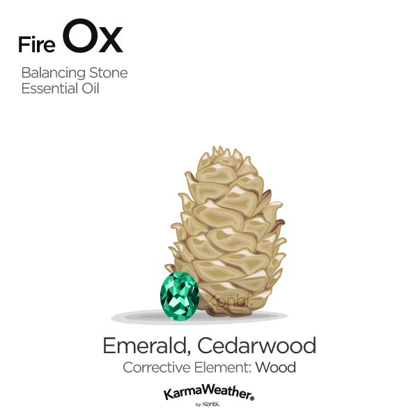 Fire Ox's balancing stone and essential oil