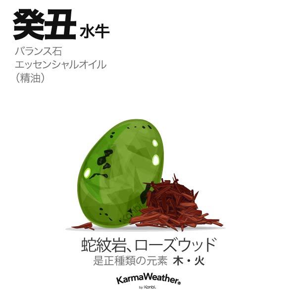水牛(癸丑):バランス石、エッセンシャルオイル