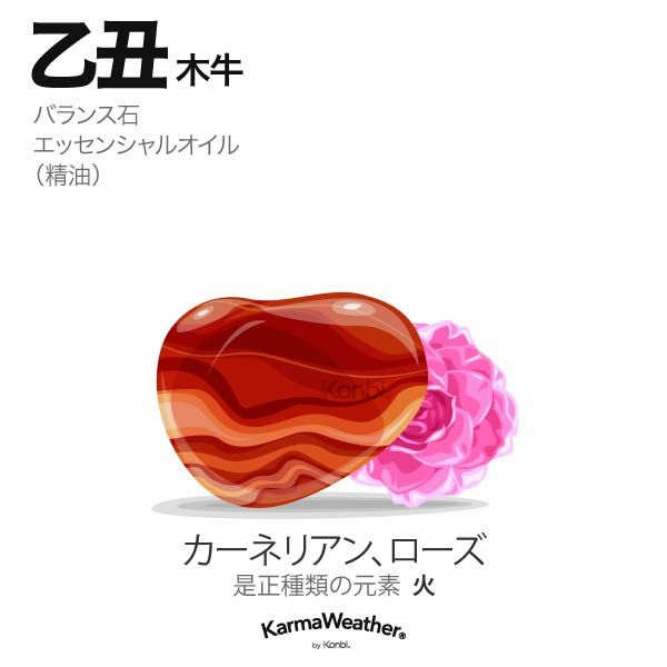 木牛(乙丑):バランス石、エッセンシャルオイル