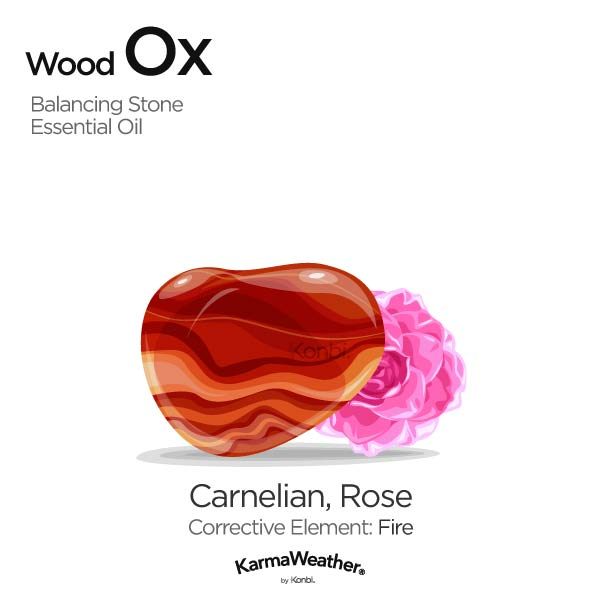 Wood Ox's balancing stone and essential oil