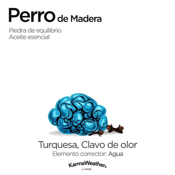 Perro de Madera: piedra de equilibrio y aceite esencial