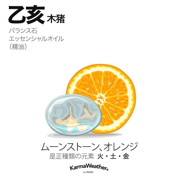 木猪(乙亥):バランス石、エッセンシャルオイル