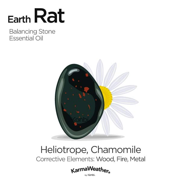 Earth Rat's balancing stone and essential oil