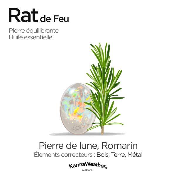 Rat de Feu: pierre équilibrante et huile essentielle