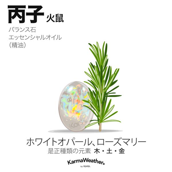火鼠(丙子):バランス石、エッセンシャルオイル