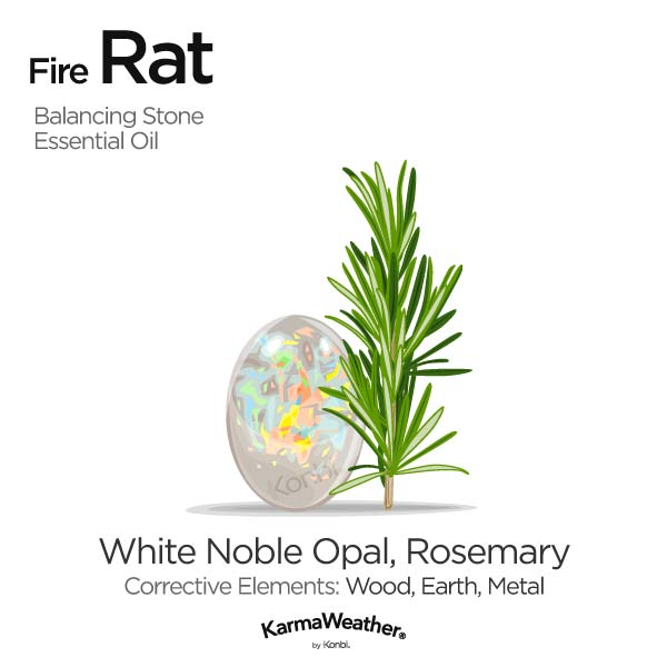 Fire Rat's balancing stone and essential oil