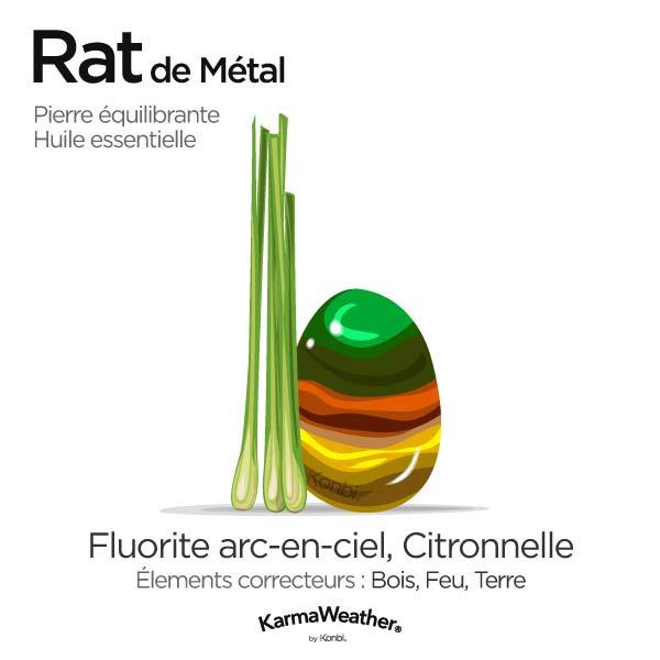 Rat de Métal: pierre équilibrante et huile essentielle