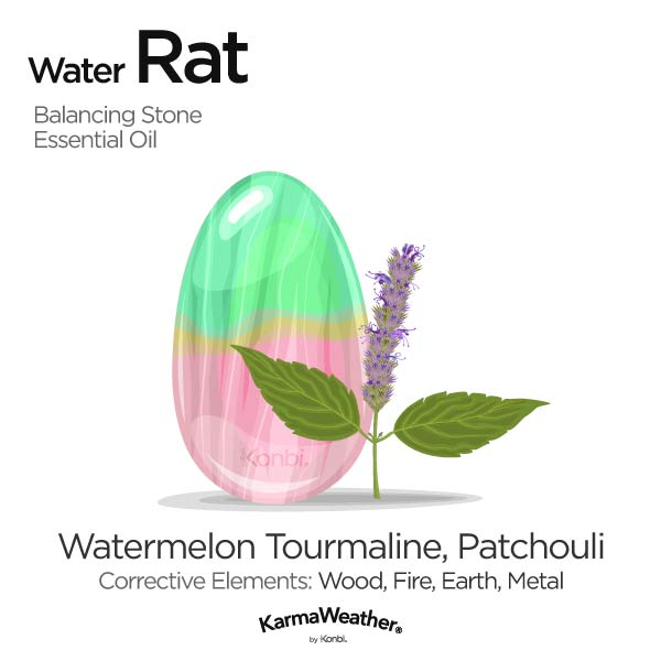 Water Rat's balancing stone and essential oil