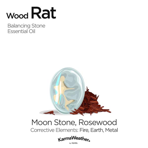 Wood Rat's balancing stone and essential oil