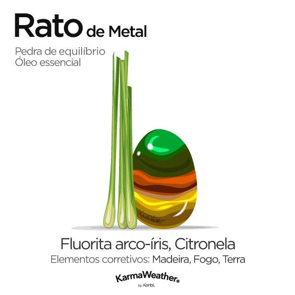 Rato de Metal: pedra de equilíbrio e óleo essencial