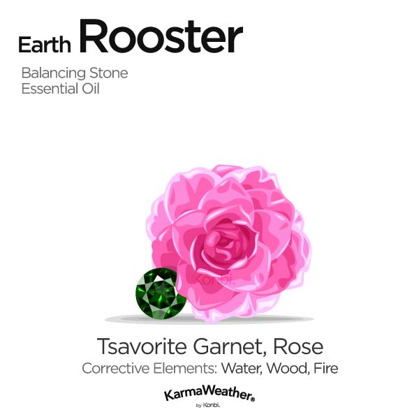 Year of the Earth Rooster's balancing stone and essential oil
