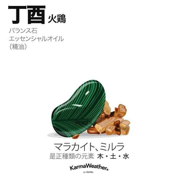 火鶏(丁酉):バランス石、エッセンシャルオイル