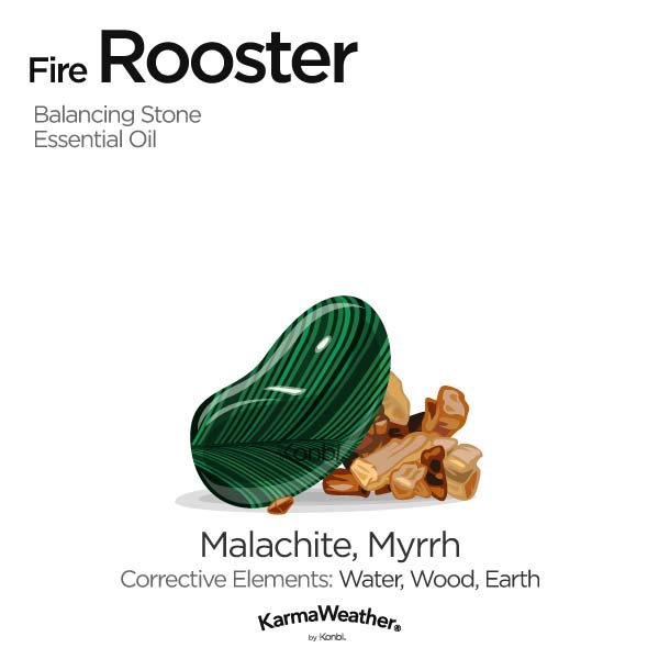 Year of the Fire Rooster's balancing stone and essential oil